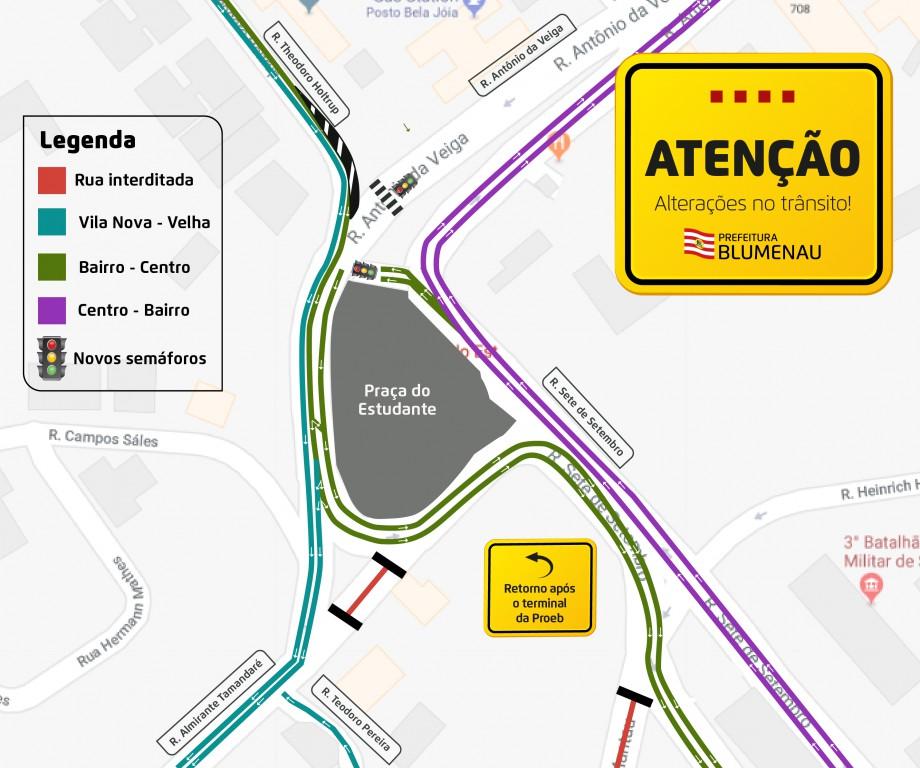 Obras mudarão trânsito na Rua Humberto de Campos