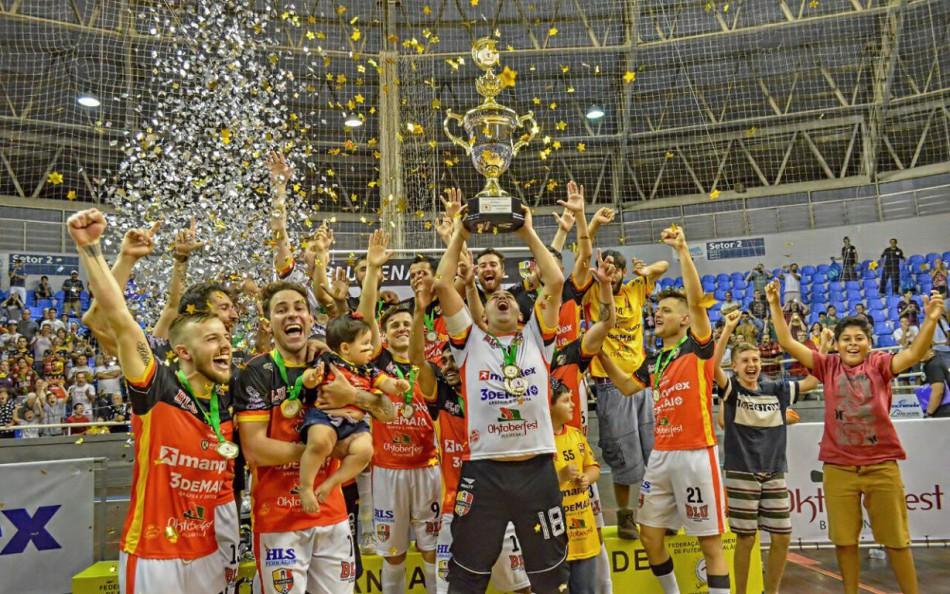 Blumenau Futsal conquista o título da Copa Santa Catarina