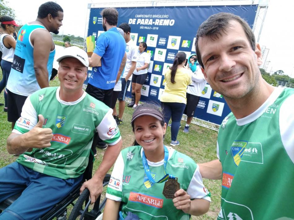 Atletas de Blumenau se destacam no Campeonato Brasileiro de Para-Remo