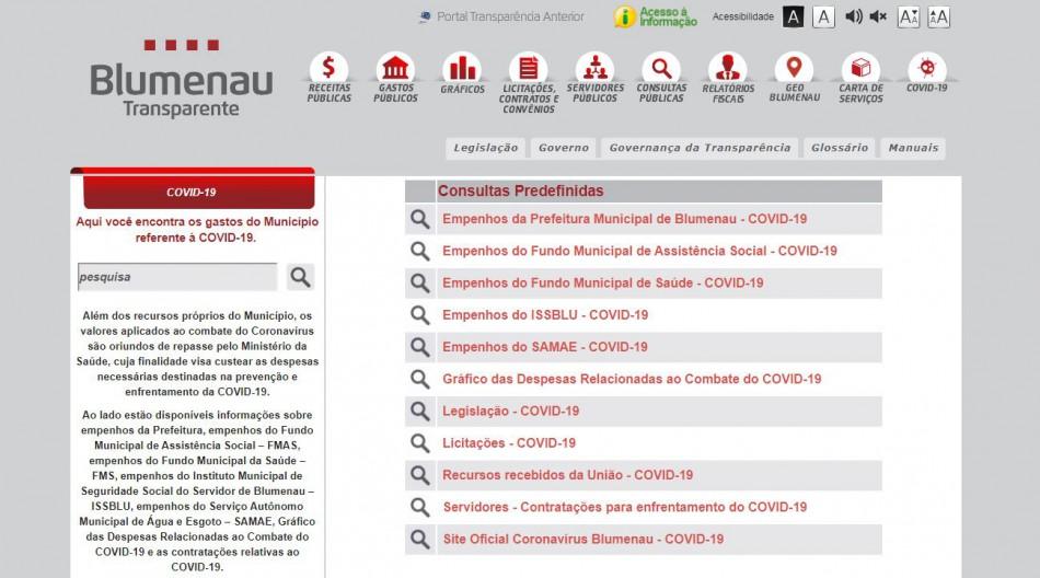 Portal da Transparência recebe nota máxima na publicação de investimentos relacionados à Covid-19