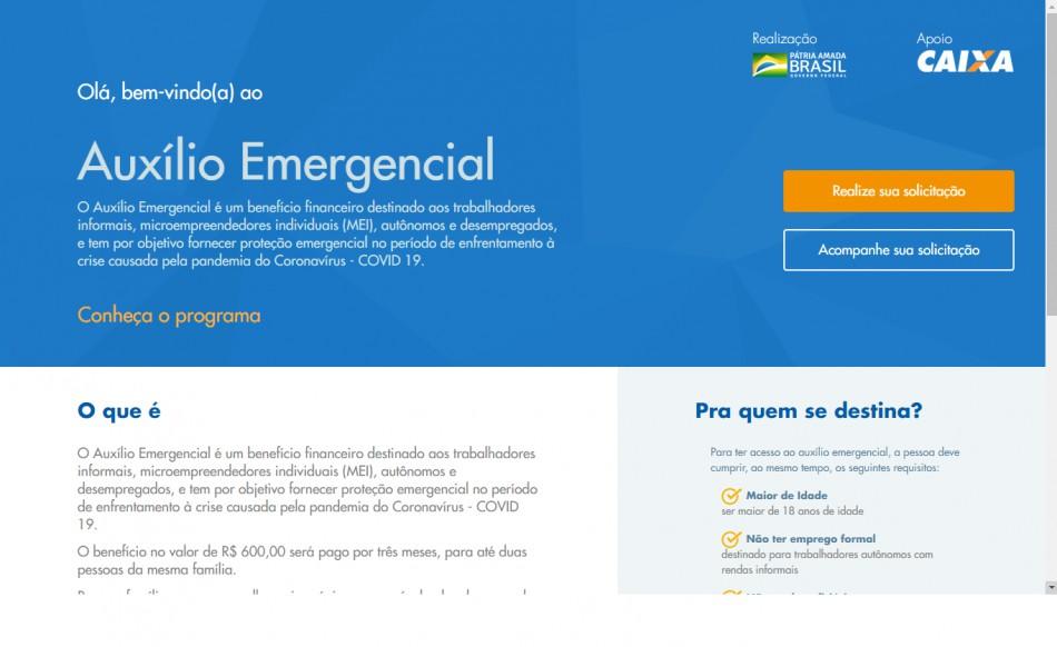 Auxílio emergencial já está disponível para cadastros em site e aplicativos