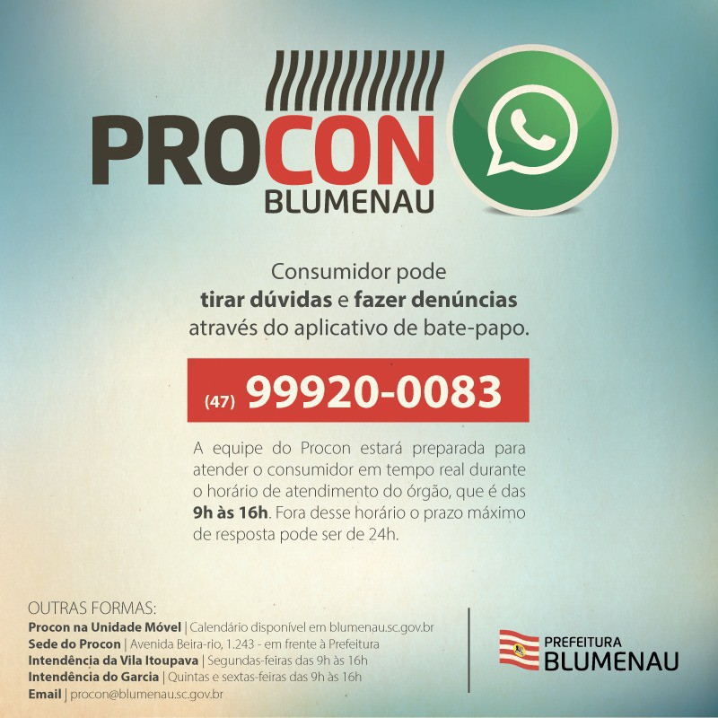 Procon registra mais de cinco mil atendimentos via WhatsApp do Consumidor