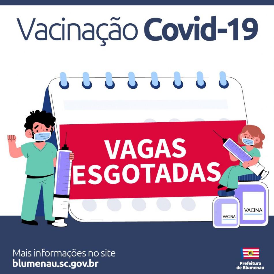 Agenda de vacinação contra a Covid-19 para quinta-feira, dia 29, tem vagas preenchidas em Blumenau