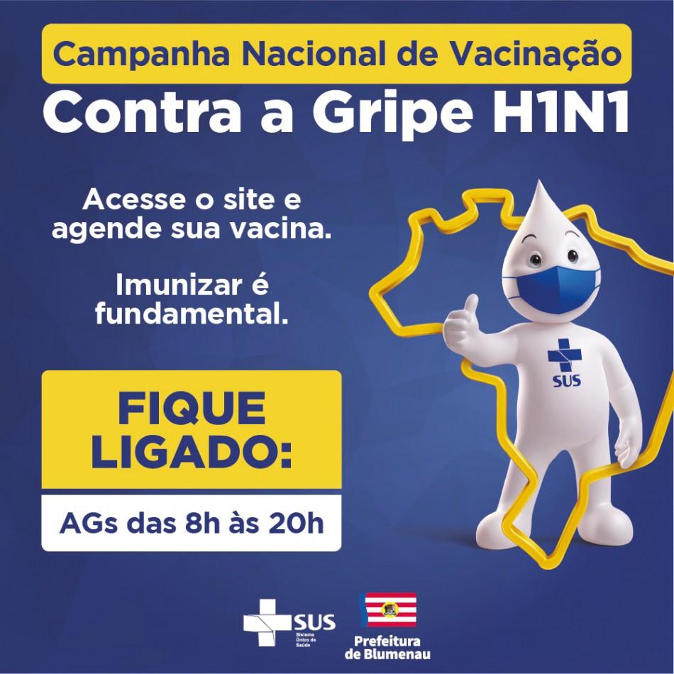 Blumenau segue com 3 mil vagas para agendamento da vacina contra a gripe