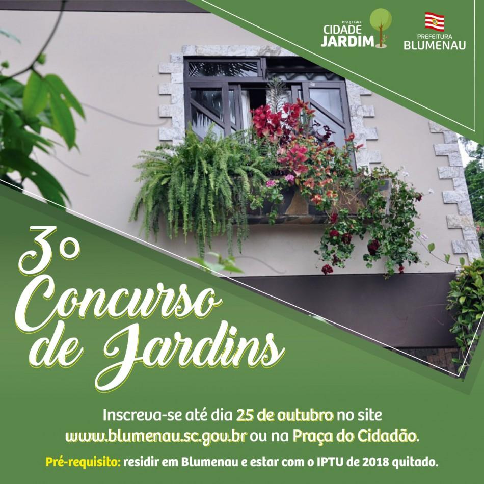Prefeitura estende prazo para inscrições no Concurso de Jardins