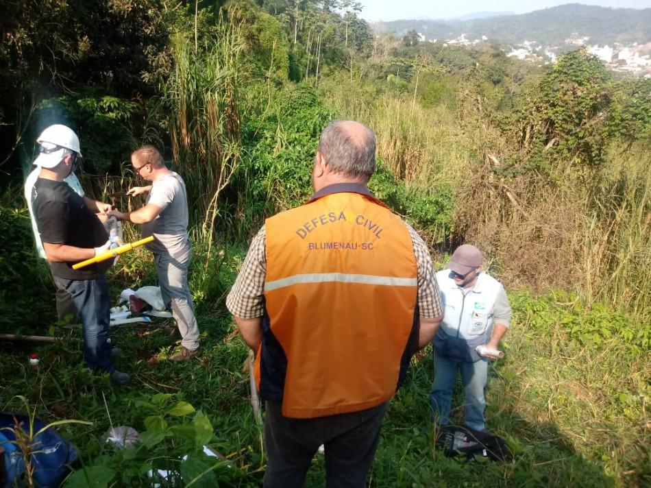 Blumenau aumenta controle do risco de deslizamentos em encostas