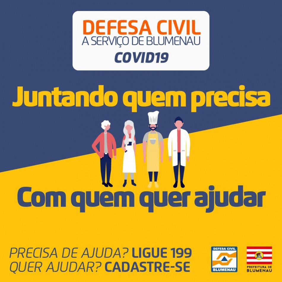 Defesa Civil lança projeto de auxílio comunitário durante Pandemia do Coronavírus