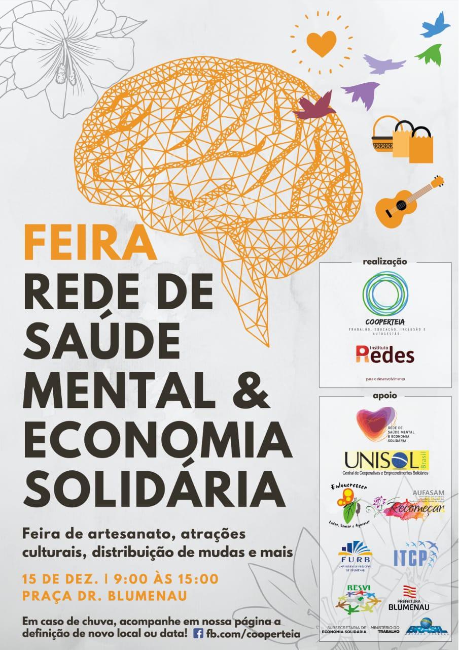 90cd4fcee2 1ª Feira de Saúde Mental e Economia Solidária ocorre neste sábado ...