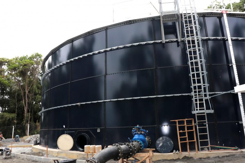 Estrutura do novo Reservatório Fortaleza em fase de acabamento