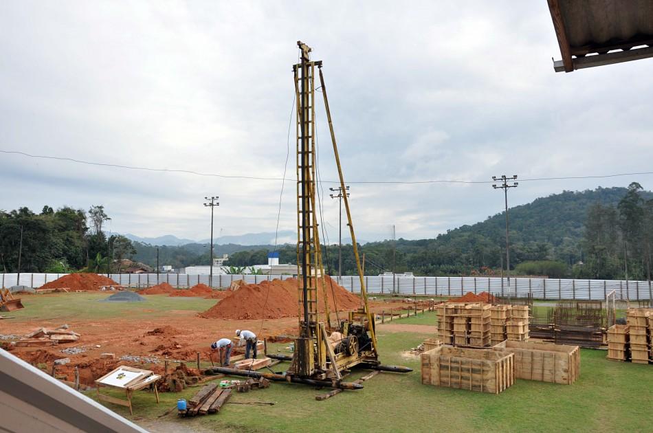 Obras do Centro de Iniciação ao Esporte avançam para etapa de fundações