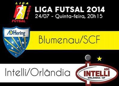 561cf86aa5 Futsal de Blumenau encara atual campeã da Liga Futsal hoje à noite ...